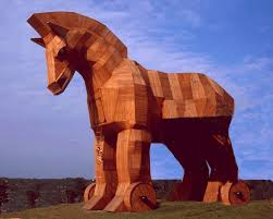 the trojan horse was a great idea of the greeks the people of troy thought this wooden horse was a gift the prince of troy told the people of troy not to