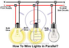 how to wire lights in parallel