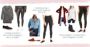 how to wear faux leather leggings