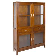 display cabinet double glass doors