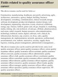quality resumes top 8 quality assurance officer resume samples