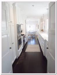 White Kitchen Dark Wood Floors Dark Wood Floor Kitchens Pleasant Home Design