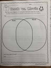 Book Vs Movie Venn Diagram 7 Black Ela Book Vs Movie Due Monday