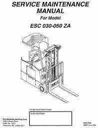 yale pallet stacker mpb040 e b827 mpw045 e b802 workshop original illustrated factory workshop service manual for yale electric forklift truck type esc za