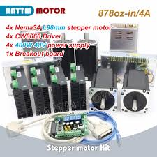 Aliexpress.com : Buy <b>4Axis</b> CNC <b>Nema34 878oz in</b> Stepper Motor kit ...