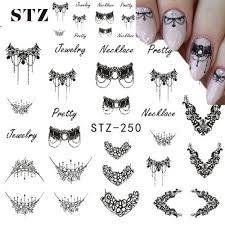 STZ 1 Sheets DIY Black Necklace Jewelry Design Fashion Water ...