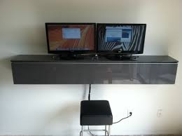 corner wall mounted computer desk