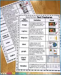 Nonfiction Blog Text Features Chart Raise The Bar Reading