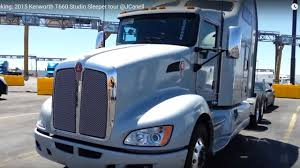 trucking 2016 kenworth t660 studio sleeper tour jcanell