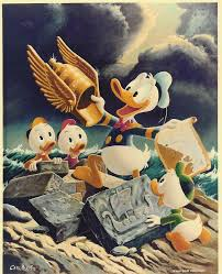 the golden helmet by carl barks based on his 1952 story i think this was the first donald duck story i ve ever read