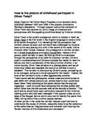 how is the picture of childhood portrayed in oliver twist gcse page 1 zoom in