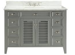 50 inch grey color bathroom vanity with italian carrara marble top 50 wx23 dx35 h c3028ck50
