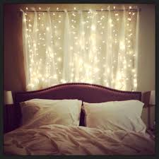 string lights for bedroom. Headboard With Lovely Strings Of Lights Bedroom Decorations A String For L