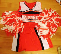 my costume for the night this glee cheerleader costume was the best cheerleader costume i could find also im a bit of a glee fan i know many of my