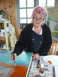 Hilary exhibits her abstract landscapes | Sidmouth Herald