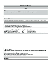 checklist template xls student code review checklist template xls management form document
