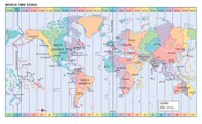 world time zones wall map  mapscom
