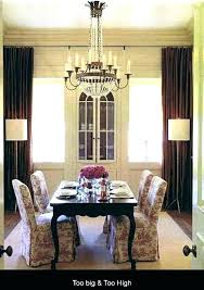 dining table chandeliers chandelier height over hanging from dining room light height chandelier above table amazing choosing over heigh