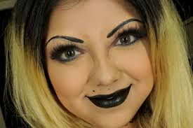 bride of chucky makeup tutorial makeup transformation makeup you