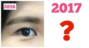 korean makeup trends 2017 dark straight brows will no longer be in trend