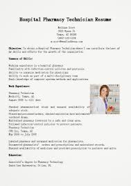 Objective For Pharmacy Technician Resume Sample No Experience Good