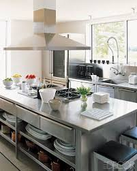 Plan De Travail Cuisine En 71 Photos (ides, inspirations, conseils,...)  Elle DecorStainless Steel IslandStainless Steel CountertopsKitchen ...