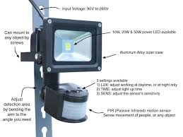 motion sensor led security flood light related search terms