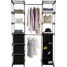 closet organizer 2 tower 9 shelves easy to assemble black com