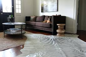 silver cowhide rug grey metallic zebra print white