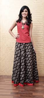 Skirt Top Stitching Designs Different Colours To Wear Red Indian Outfits Indian