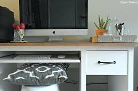 ikea office makeover. Ikea Grey Desk Makeover Chalk Paint Rustic Farmhouse Pottery Barn Office O