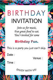 Invitations Card For Birthday Buy Designer Birthday Invitation Cards Online In India With Custom