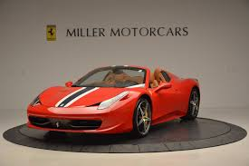The downshifts are an absurd 44% faster than the already fleet shifts in the stock 458. Pre Owned 2014 Ferrari 458 Spider For Sale Ferrari Of Greenwich Stock 4692