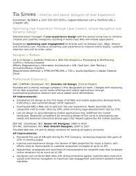 Sample Resume For An Experienced Ux Designer Monster Com