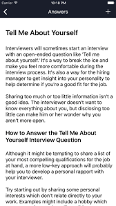 how to answer job interview questions job interview questions and answers on the app store