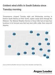 Polar Vortex Coldest Places In South Dakota On Wednesday
