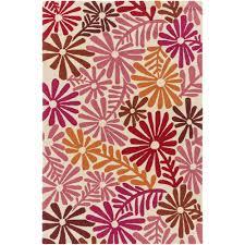 artistic weavers bully choop hot pink 3 ft x 5 ft indoor outdoor