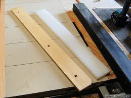 diy table saw fence. changing the fence material from plywood to uhmw plastic diy table saw