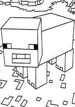 Minecraft Kleurplaat Horse Pferde 5 Ausmalbild Kleurplatenlcom