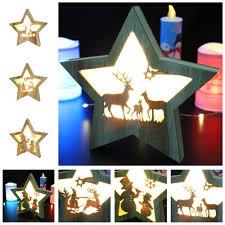 Đèn ngủ gỗ hình ngôi sao 5 cánh gắn đèn LED dùng trong trang trí tiệc  Halloween giảm chỉ còn 138,279 đ