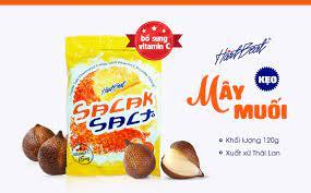 Kẹo Mây Muối Thái Lan 120g Hartbeat Bổ Sung Vitamin C