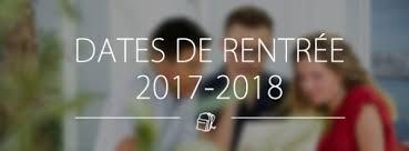 """Résultat de recherche d'images pour """"calendrier  de rentrée 2017 2018"""""""