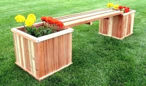 garden planter bench wood bench kit garden planter benches bench set wood wood kitchen table with