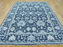 6 x 9 turkish knot oushak navy blue hand knotted pure wool 6 x 9 turkish knot oushak navy blue hand knotted pure wool oriental rug sh25394