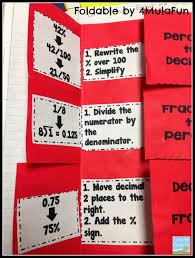 Teaching With A Mountain View Percents Decimals Fractions