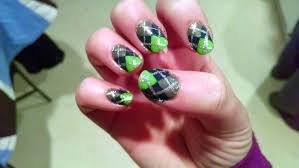 The Nail Diaries: Super Bowl XLVIII Seahawks Argyle Patterned Nail ...