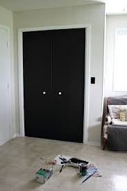 special black closet door d i y update turn plain into a giant chalkboard bifold sliding glass painting