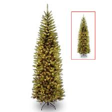 National Tree PreLit 75u0027 Kingswood Fir Pencil MultiColored Kingswood Fir Pencil Christmas Tree