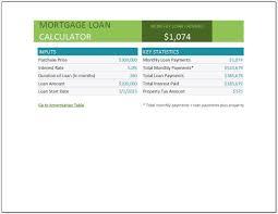 Mortgage Calculator Template Mortgage Loan Calculator Template Clickstarters