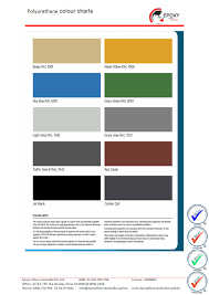 Polurathane Colour Chart Epoxy Flooring Australia